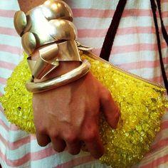 Herve Van Der Straeten silver cuff & bangle