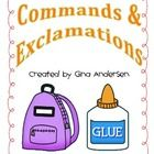 Commands & This packet includes engagement activities to build on student's understanding using commands and exclamations. Make School, School Stuff, Types Of Sentences, Matching Games, Language Arts, Grammar, Student, Teaching, Activities