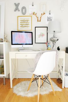 Simple white office space