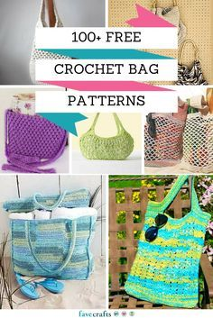 100+ Free Crochet Bag Patterns - Check out our full collection of crochet bag patterns! From tote bag patterns to crochet beach bag DIY ideas, we are sure to have the crochet bag tutorial you have been looking for.
