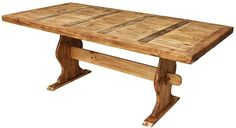 The attractive pine trestle dining table is handmade to provide exceptional stability for family dinners. Our trestle dining tables come in small and large sizes. Trestle Dining Tables, Metal Dining Table, Rustic Table, Round Dining, Dining Room Table, Rustic Wood, Pine Table, Kitchen Tables, Dining Rooms