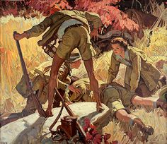 Dean Cornwell - He Lay Face Down