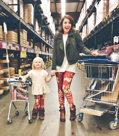 Mommy and me pattern leggings Mommy And Me Lularoe 8ceeac7a1