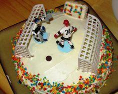Hockey cake#Hockey #cake #ahockeymomreviews 7th Birthday, Birthday Ideas, Hockey Cakes, Cake Ideas, Desserts, Recipes, Food, Tailgate Desserts, Deserts