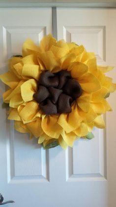 SALE SALE Sunflower Burlap Wreath // Front by DelightfullyQuaint