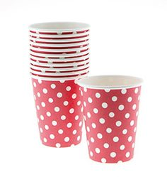 Red Spotty Party Cups by Sambellina at www.theoriginalpartybagcompany.co.uk