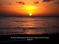 Sunset, beach, glory of God, the skies, Psalms 19:1, Santo Domingo, Dominican Republic, missionary