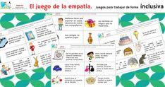 el juego de la empatía Spanish Classroom, School Psychology, Bullying, Feelings, Ruler, Instagram, Kids Psychology, Activities, Cognitive Activities