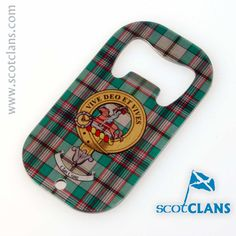 Craig Clan Crest and Tartan Bottle Opener. Free Worldwide Shipping Available