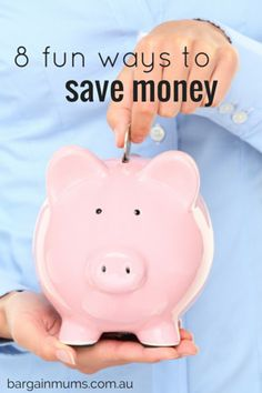 Saving money doesn't have to be boring!  Here are 8 FUN WAYS TO SAVE MONEY http://bargainmums.com.au/8-fun-ways-to-save-money