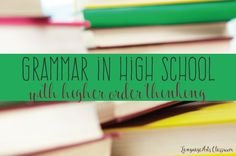 Grammar for high school should be easy, right? The language standards for high school students are complex and require various teaching toold. Teaching Grammar, Teaching Language Arts, Grammar Lessons, Teaching English, Writing Lessons, Teaching Writing, Teaching Tips, Teaching Secondary, High School English