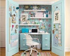 Wallpapered Closet Interiors