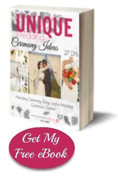 Unique Wedding Ceremony Ideas: 27 DIYs + Wedding Ceremony Songs and Outline | AllFreeDIYWeddings.com
