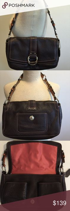 Coach Leather Bag Coach Leather Bag. In excellent pre owned condition. Slight marking inside zipper area see pic (but not very obvious). Ships out same day. Coach Bags Shoulder Bags