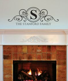 Loving this Family Name & Frame Personalized Wall Decal on #zulily! #zulilyfinds