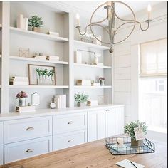 Love this fresh white look! These styling shelves were spotted on Fixer Upper, and reposted from @gabbydecor