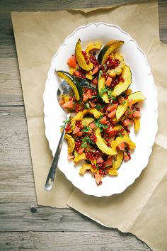 Recipe: Rosemary + Za'atar Squash Roast with Grapefruit Pomegranate Salsa