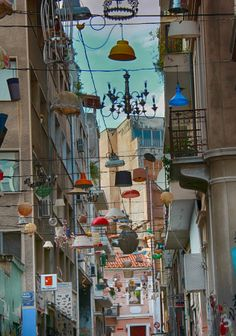 Pittaki street in Psiri, Athens