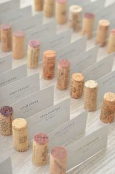 Wedding DIY Projects - Holders for Your Escort or Name Cards #WeddingIdeasTable