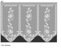 Curtain with roses Filet Crochet, Crochet Patterns Filet, Crochet Borders, Lace Doilies, Crochet Doilies, Crochet Flowers, Crochet Curtain Pattern, Crochet Curtains, Diy Crafts Crochet
