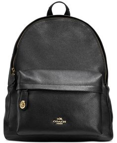55a9abb0e8 Coach Campus Backpack in Pebble Leather Coach Purses