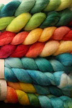 textiledreams:    new woolgatherings roving on Flickr.  falkland and bfl and polworth