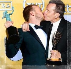 Breaking Bad's Brian Cranston and Aaron Paul ... love these guys <3