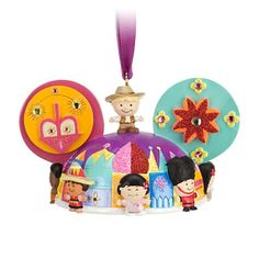 Your WDW Store - Disney Ear Hat Ornament - Attractions ''it's a small world''