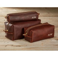 Arizona Leather Toiletry Bag Travel Shaving Dopp Kit with Monogram... ($36) ❤ liked on Polyvore featuring beauty products, beauty accessories, bags & cases, make up purse, makeup bag case, toiletry bag, travel bag and cosmetic purse