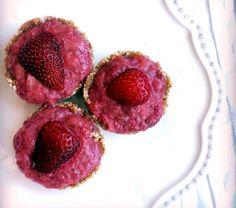 Vegan and Gluten Free Strawberry Rhubarb Tarts