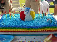 Beach ball/ pool party cake