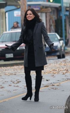 Lana on set 18th November.