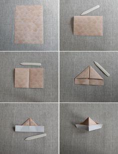 Vika pappershatt - kul bordsplacering till kräftskiva - Helena Lyth Google Images, Party Time, Origami, Content, Boho, Diy, Tutorials, Dekoration, Bricolage