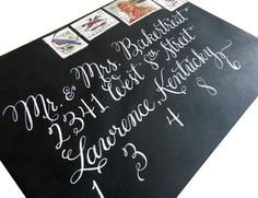 An oblique calligraphy pen is a one-way street to gorgeous wedding and event invitation envelopes! Learn how to use one in this tutorial.