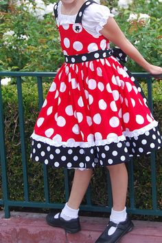 Minnie Mouse dress  by Angelasews, via Flickr