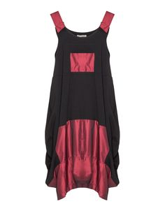 D Celli Cotton pinafore in Black / Red