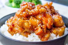 General Tso's Chicken is a favorite Chinese food takeout choice that is sweet and slightly spicy with a kick from garlic and ginger.