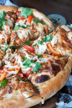 ... Peanut thai sauce, chicken, carrots, cilantro and red pepper with THE