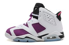 another chance 7c7d9 63d23 Air Jordan 6 (VI) GS Retro White Vivid Pink-Bright Grape-