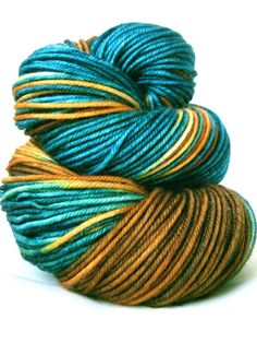 SunriseFiberCo - Hand Dyed Yarn - Superwash Merino, Vintage DK Yarn in Colt - Preorder.