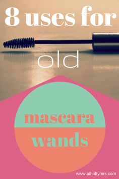 "8 Uses For Old Mascara Wands - amazing ideas many of which will have you shouting ""I can't believe I didn't think of that!""."