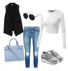 """""""Casual chic"""" by cheekipie on Polyvore featuring J Brand, Doublju, adidas Originals, Kurt Geiger and Vince"""