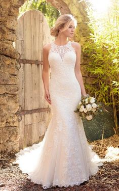Essense of Australia Wedding Dresses - Search our photo gallery for pictures of wedding dresses by Essense of Australia. Find the perfect dress with recent Essense of Australia photos. Dream Wedding Dresses, Bridal Dresses, Wedding Dresses Fit And Flare, Halter Wedding Dresses, Popular Wedding Dresses, Party Dresses, Dresses Dresses, Wedding Dresses For Petite, Reception Dresses