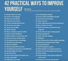 42 practical ways to improve yourself.