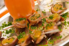 Apricot Rumaki http://realwomenofphiladelphia.com/recipes/view/1070618/this-isn-t-your-grandma-s-rumaki 3 ounces PHILADELPHIA 1/3 less fat Cream Cheese  1 pound bacon or 12 slices/cut in half 24 medium size dried apricots 24 candied walnuts 1/3 cup balsamic vinegar