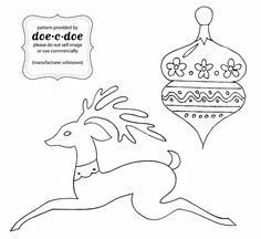 doe-c-doe: oh deer. Vintage Embroidery, Cross Stitch Embroidery, Hand Embroidery, Embroidery Transfers, Embroidery Patterns, Christmas Coloring Pages, Oh Deer, Christmas Embroidery, Christmas Colors