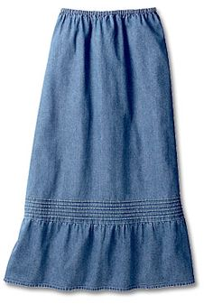 Vintage Denim Ruffle Skirt