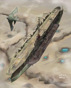 Arkilian Strategic Aircraft Carrier, Ecarlard by Waffle0708.deviantart.com on @deviantART