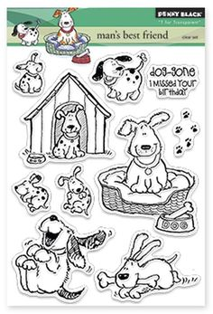 Penny Black - Clear Acrylic Stamps - Man's Best Friend at Scrapbook.com