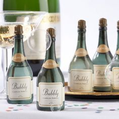 Champagne Bubbles Drinks and Favors for Engagement, Bridal shower, Rehearsal dinner, Wedding (($))